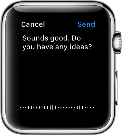 Dictated message on Apple Watch