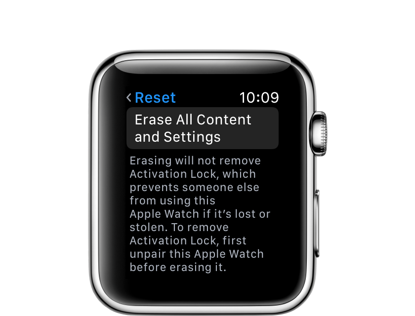 Erase All Content and Settings from your Apple Watch