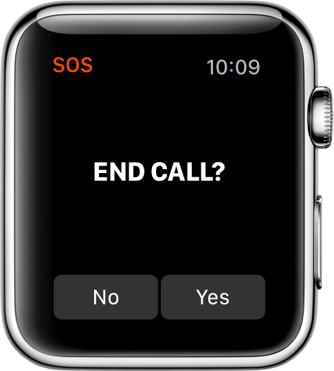 End Call screen