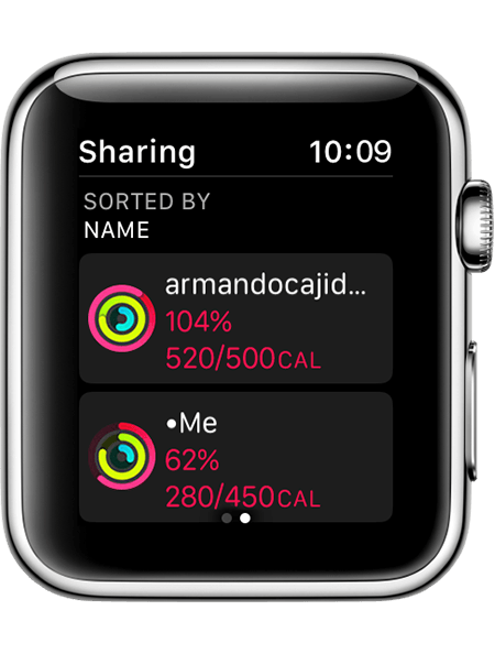 Armando's activity on Apple Watch