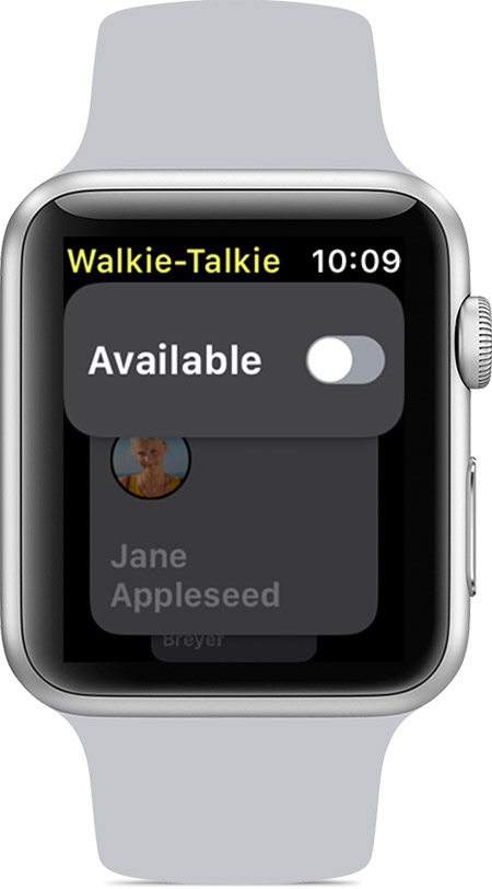 Availability turned off in Walkie-Talkie