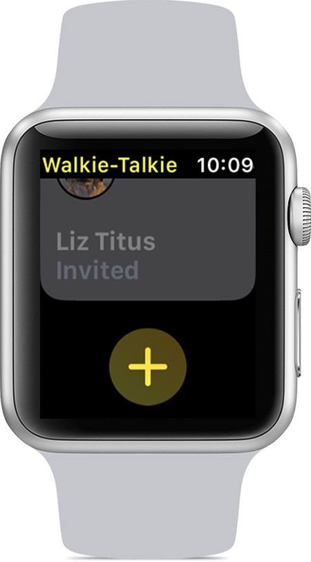 Friends in the Walkie-Talkie app