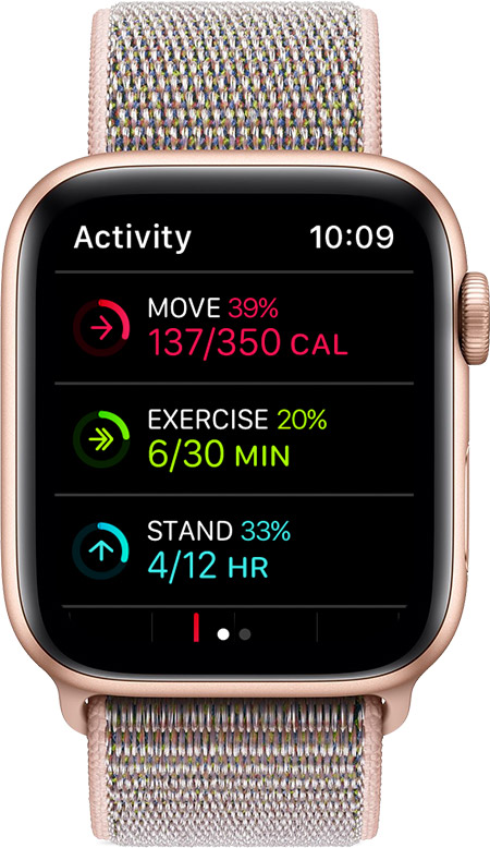 Activity screen