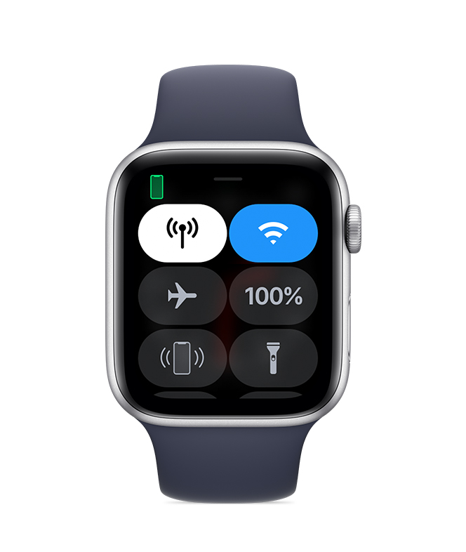 Apple Watch connected to iPhone.