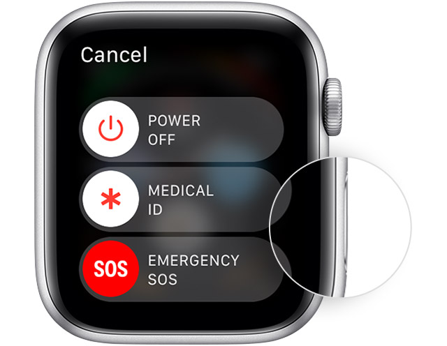 how to turn apple watch off