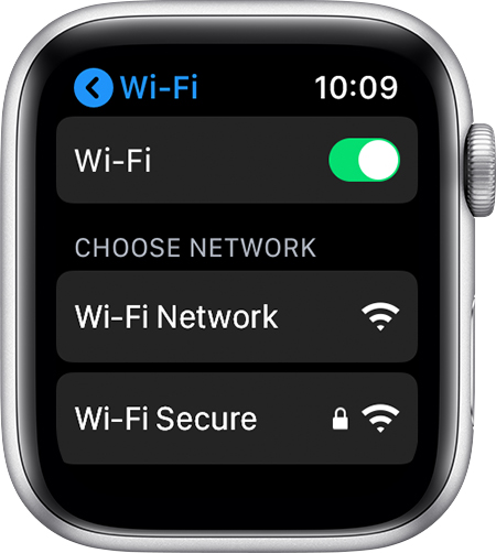 Wi-Fi settings screen