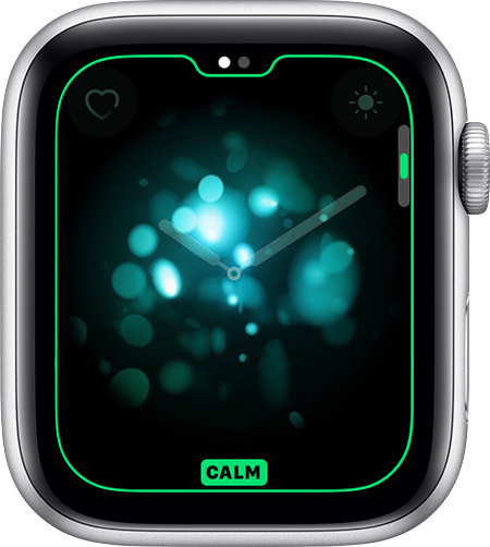 Calm option for Breathe watch face.