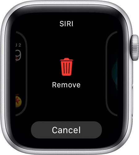 Remove the Siri watch face.