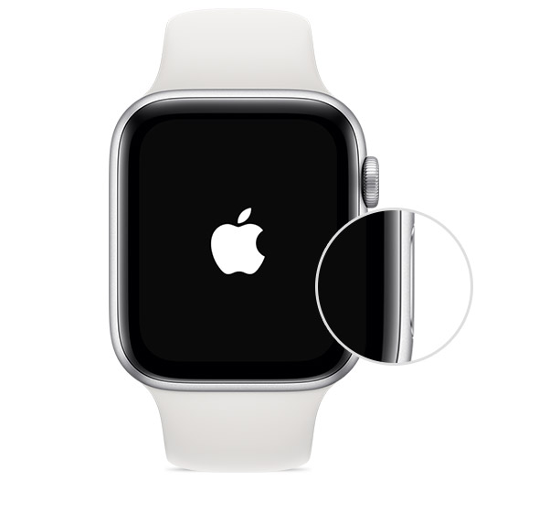 Botão lateral do Apple Watch.