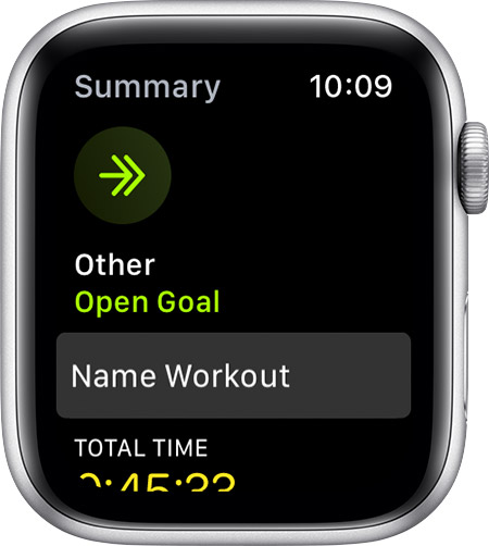 Option to Name Workout on the summary screen.
