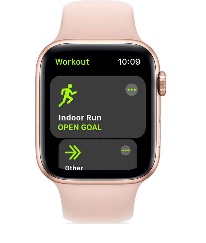 Indoor Run workout.