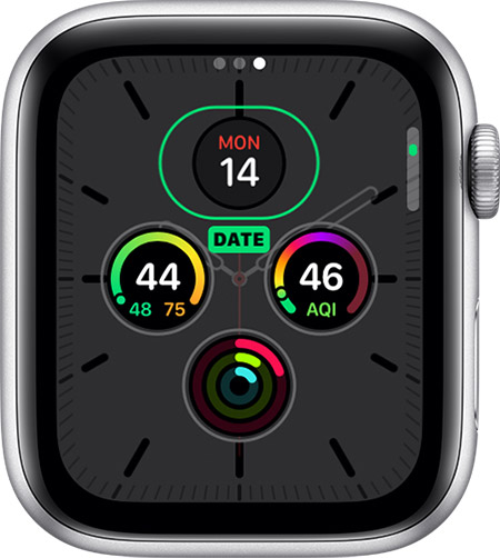 watchos6 series5 watch face add complication