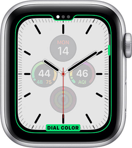 watchos6 series5 watch face change feature