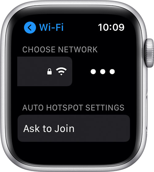 The more button in Wi-Fi settings