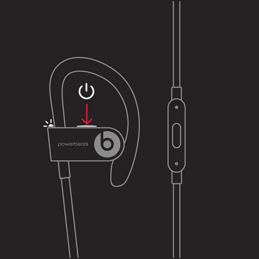 Bouton d'alimentation des Powerbeats3