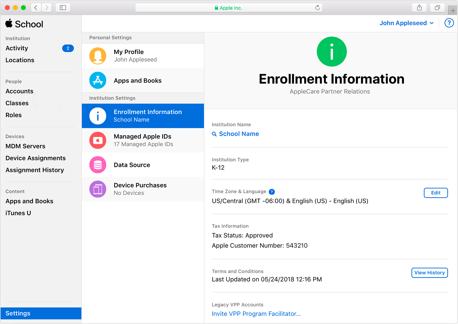 Invite Volume Purchase Program Purchasers to Apple School