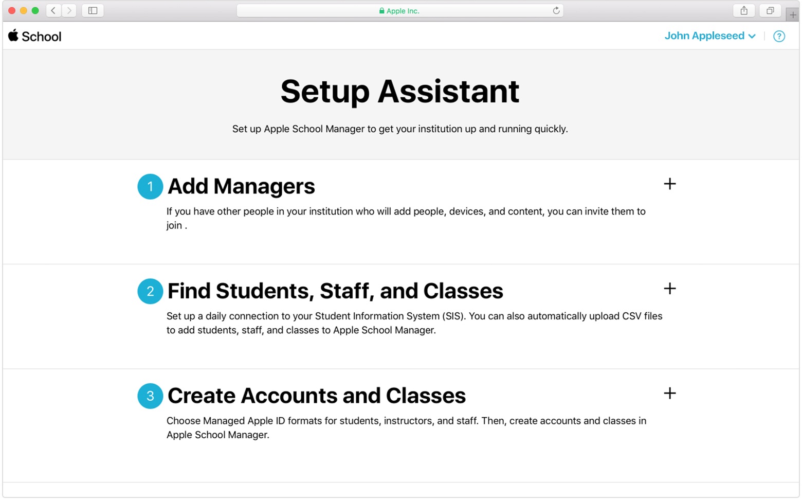 Use SFTP to upload student, staff, and class data to Apple