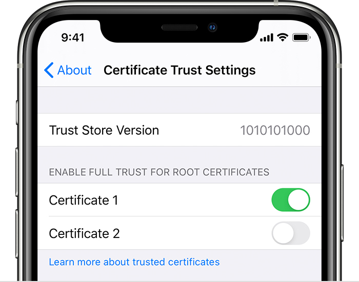 Trust Manually Installed Certificate Profiles In Ios And
