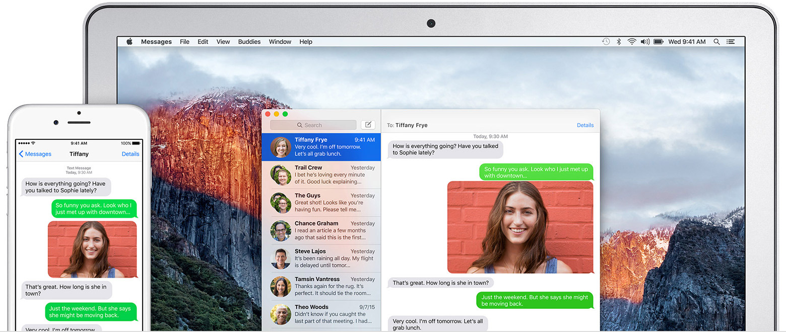 With Continuity, send text messages from your Mac, iPad, or iPod touch