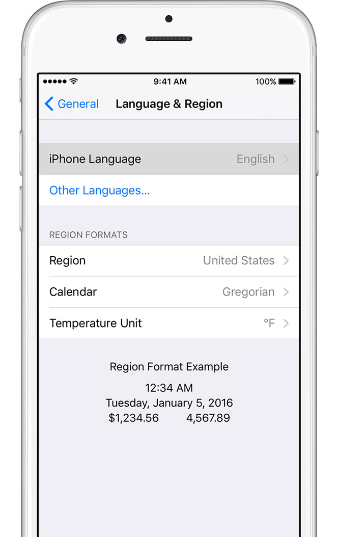 how to change region on iphone change the language on your iphone or ipod touch 18635