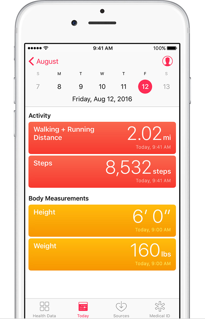 use the health app on your iphone or ipod touch apple support iPod Touch Adds iPod Touch Adds