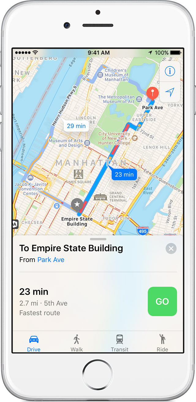 Use Maps on your iPhone iPad or iPod touch Apple Support – Maps Directions Mileage