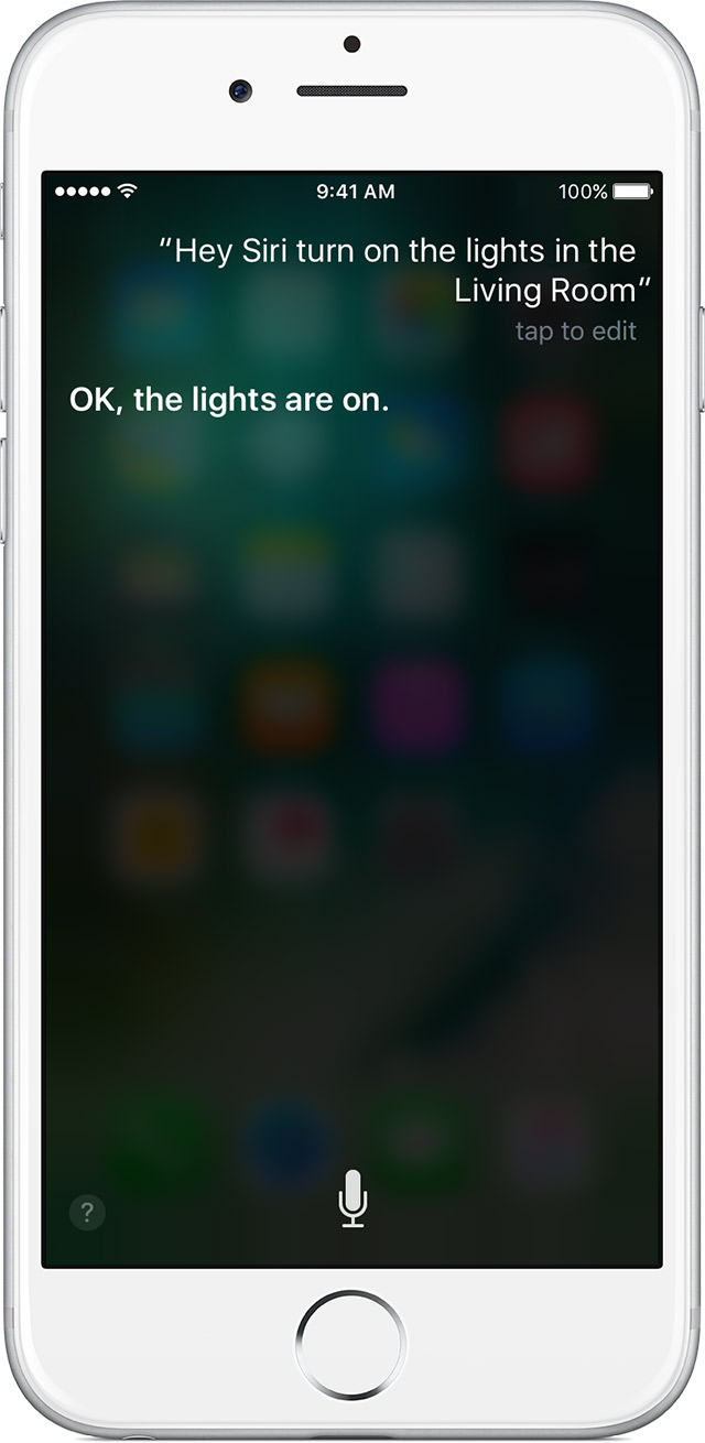 Control your home with Siri