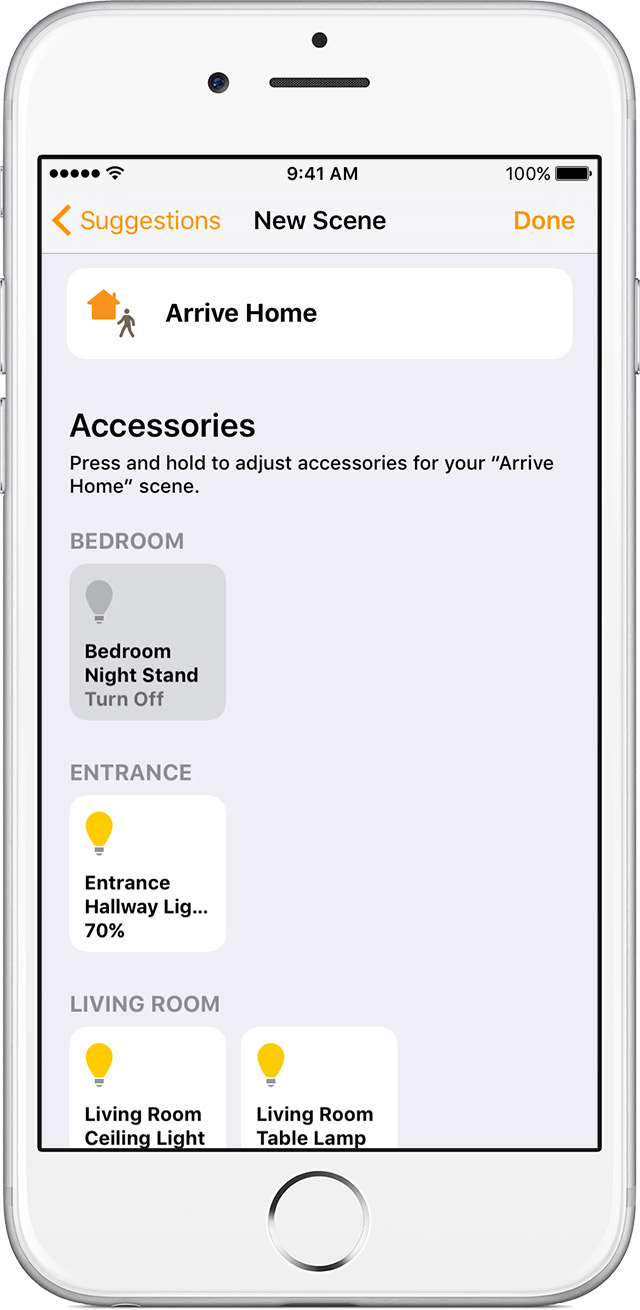use the home app on your iphone ipad and ipod touch apple support control your accessories
