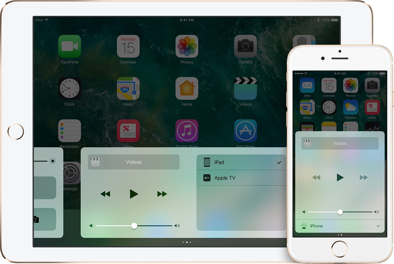 The Now Playing screen in Control Center
