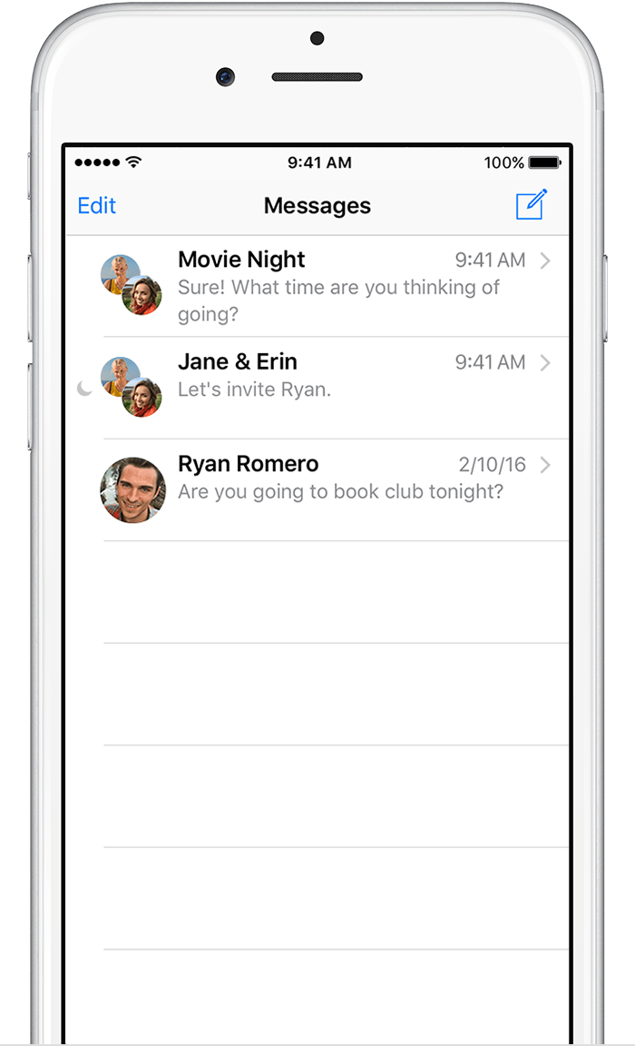 how to make a text message group on iphone