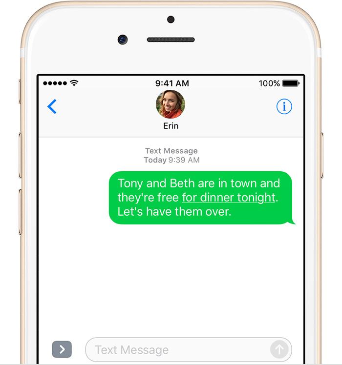 Как отправлять по смс на айфоне 6