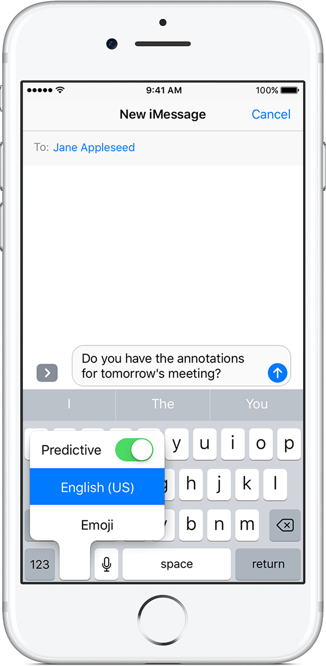 turn on predictive text iphone how to use auto correction and predictive text on your 18120