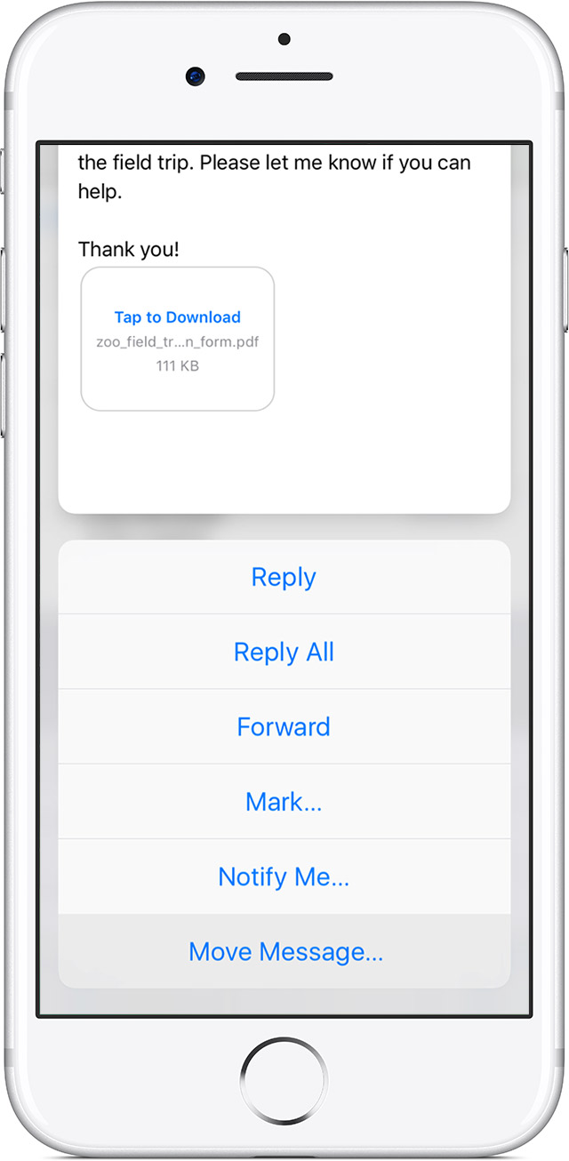 how to delete mailbox on iphone 7
