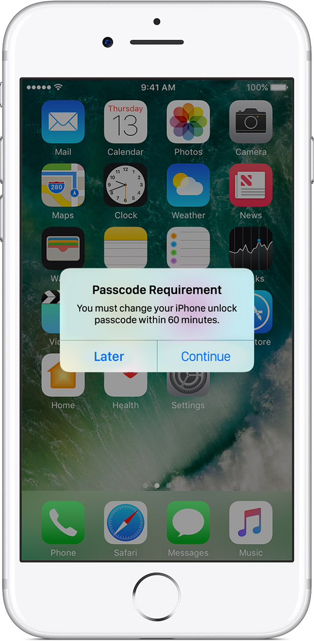iphone passcode requirement use a passcode with your iphone or ipod touch 3245