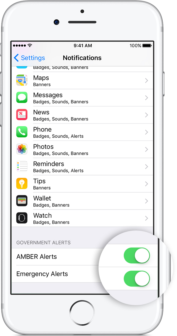 iphone amber alert sound about emergency and alerts on your iphone apple 6049