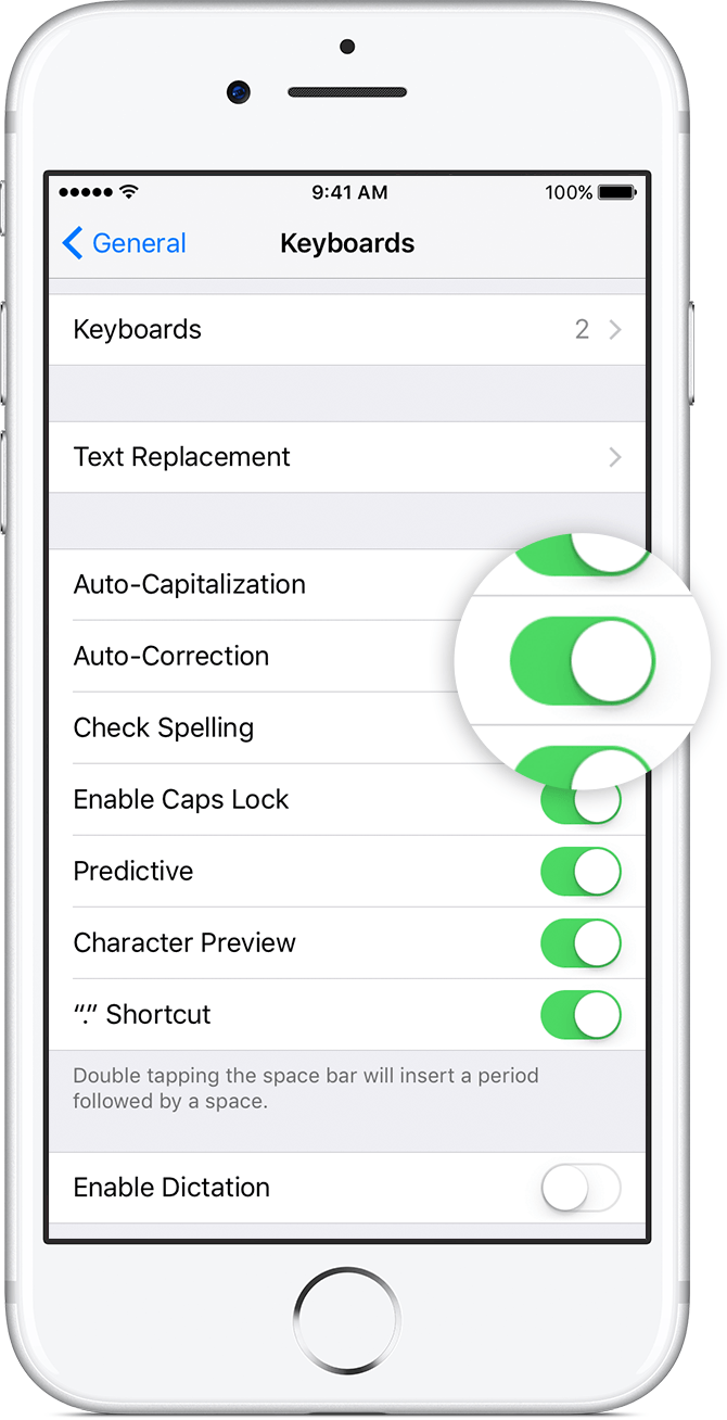 autocorrect settings iphone how to use auto correction and predictive text on your 10199