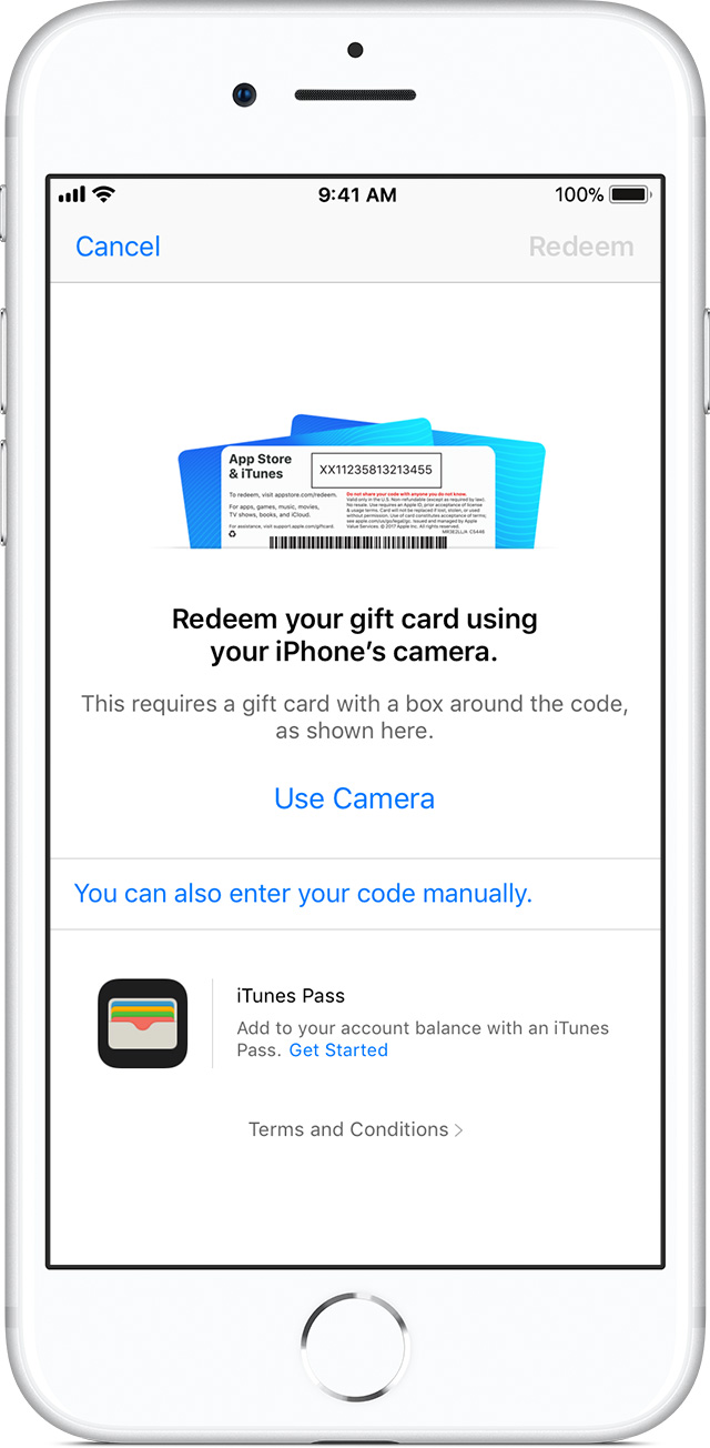 how to put itunes card on iphone redeem app amp itunes gift cards apple gift 5762