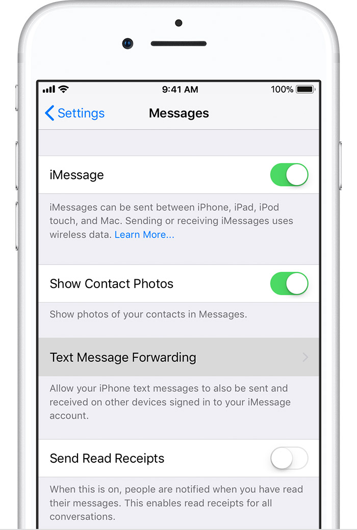 iphone text forwarding how to forward sms texts on your iphone apple support 12372