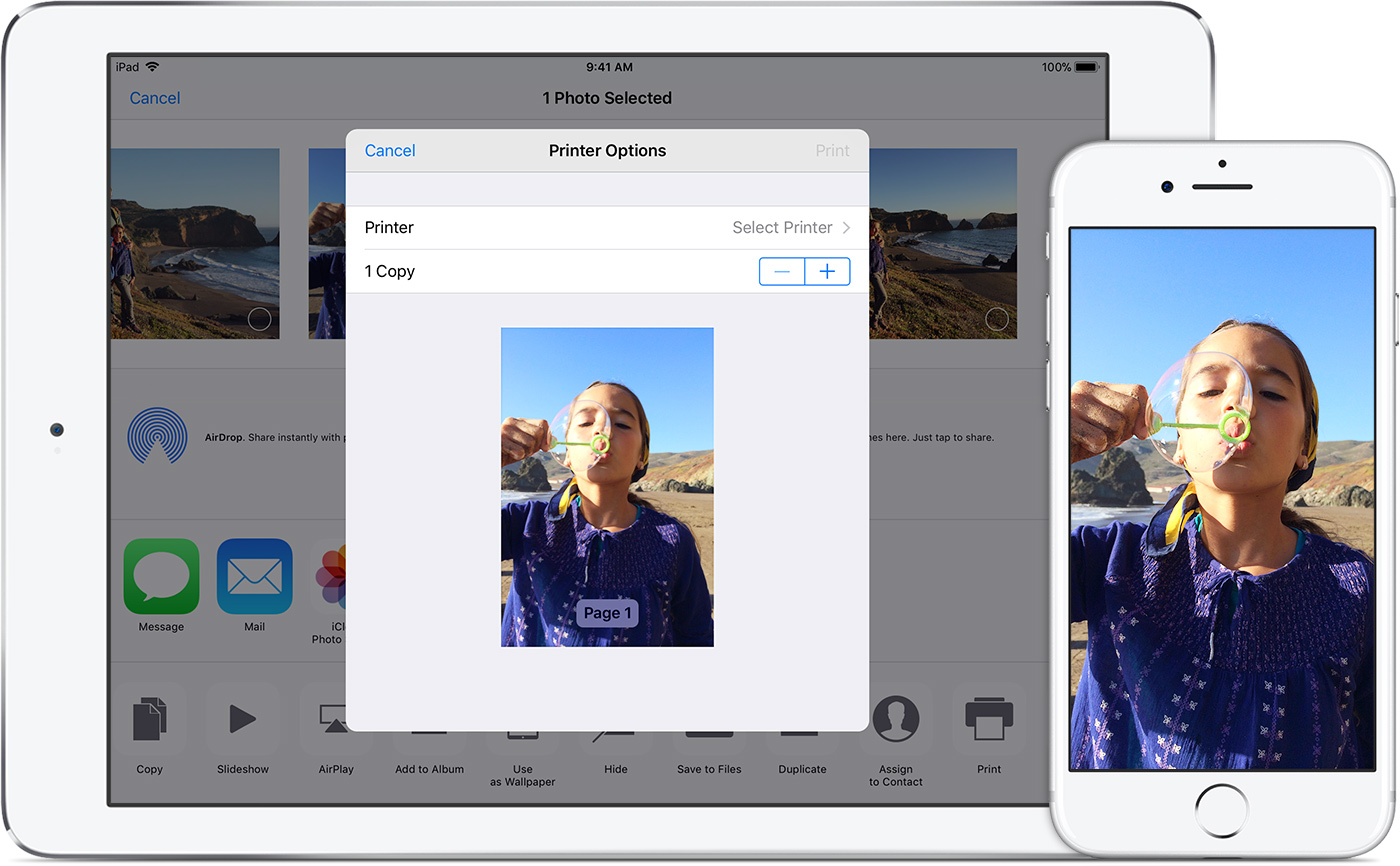 how do i print pictures from my iphone use airprint to print from your iphone or ipod 20693