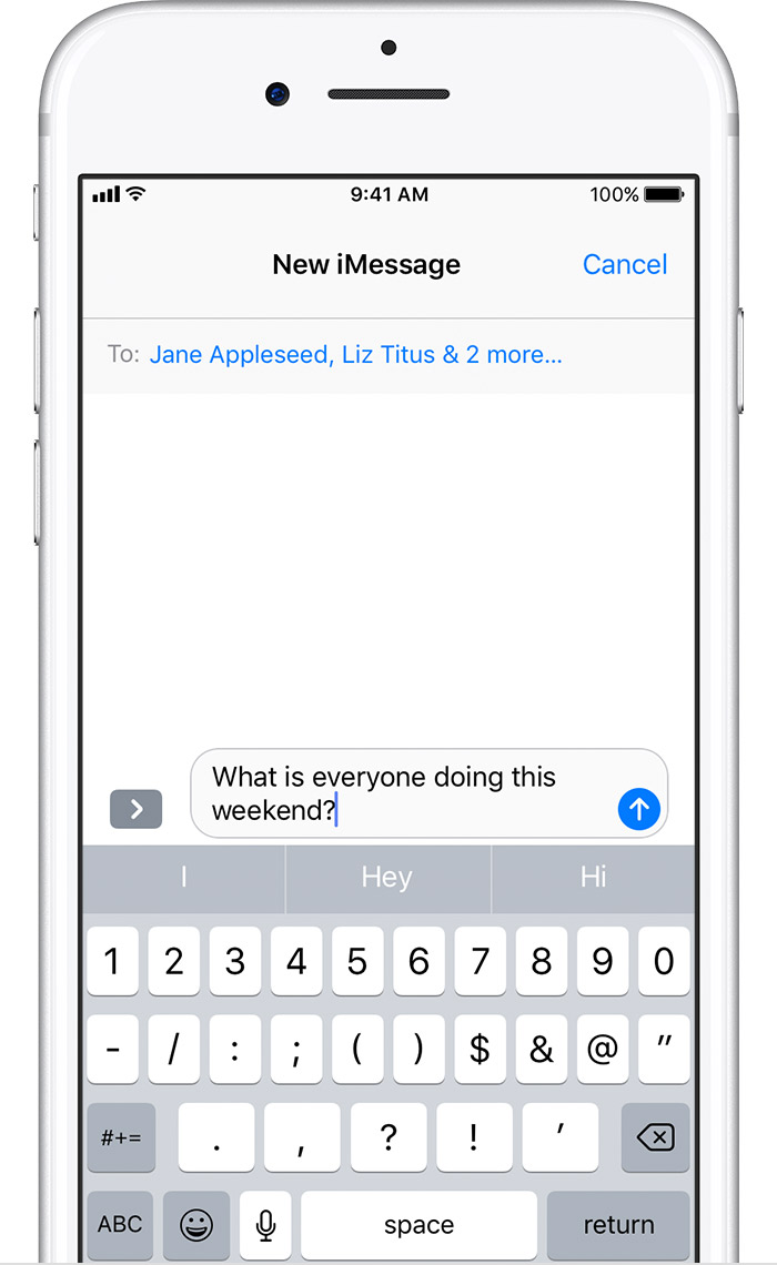 how to send group message on iphone send a message on your iphone or ipod touch 20298