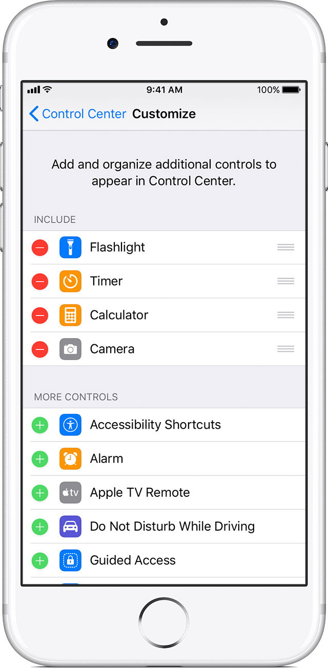 Use And Customize Control Center On Your Iphone Ipad And Ipod