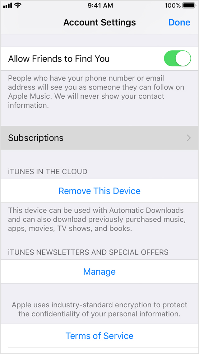 Manage app subscriptions iphone