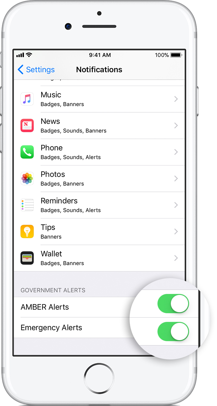 amber alert iphone sound about emergency and alerts on your iphone apple 5345
