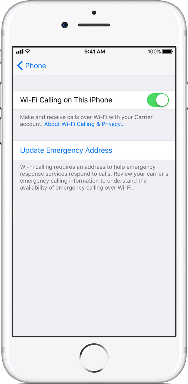 iphone wifi calling make a call with wi fi calling apple support 1828