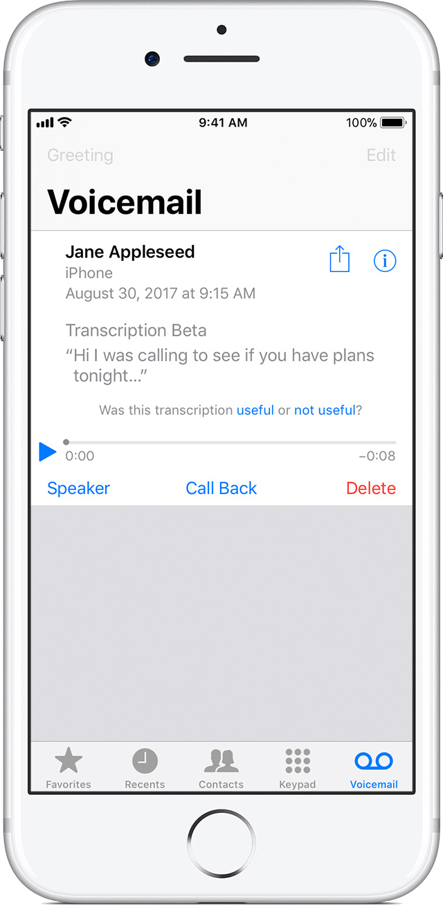 How To Save Visual Voicemail Messages On Your Iphone Apple Support