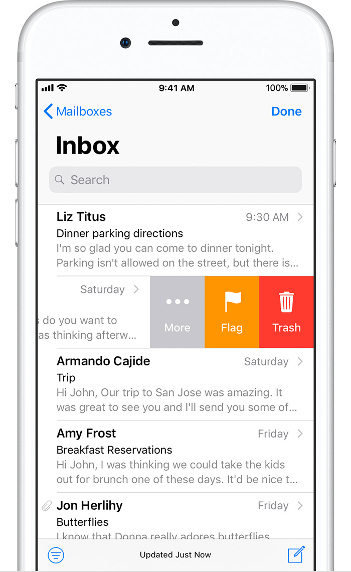 how to clear mailbox on iphone 6s