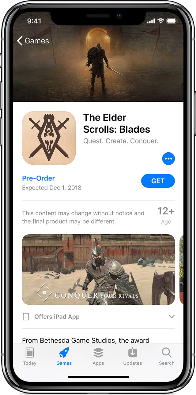 Pre-order apps, movies, music, and books from the App Store, Apple