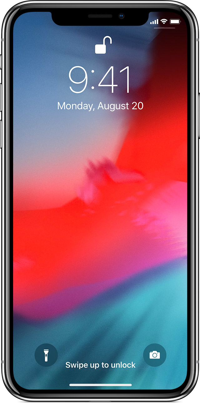 Lock screen on iPhone