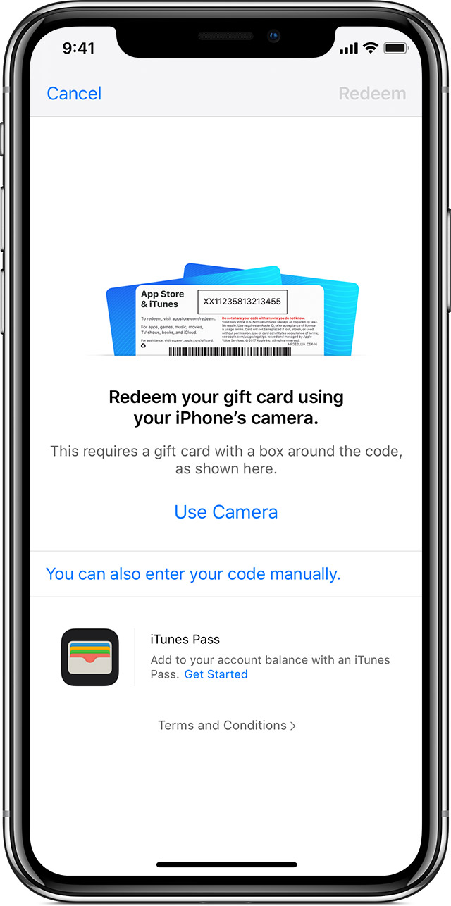 Redeem App Store & iTunes Gift Cards and content codes