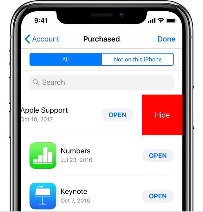 Hide App Store purchases - Apple Support